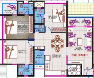 2085 sqft, 3 bhk Apartment in Builder Project Althan, Surat at Rs. 81.1274 Lacs