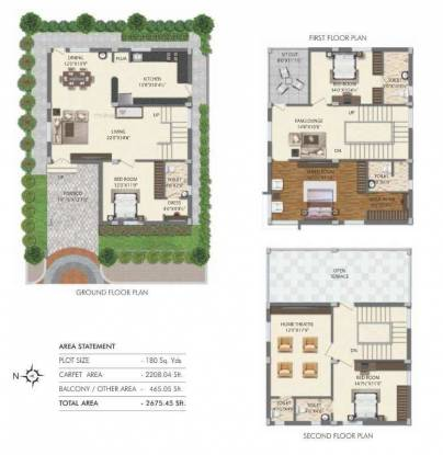 2676 sqft, 5 bhk Villa in Builder Project Mallampet Road, Hyderabad at Rs. 1.4700 Cr