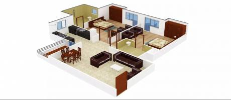 1025 sqft, 2 bhk Apartment in Gaursons Gaur Homes Govindpuram, Ghaziabad at Rs. 7000
