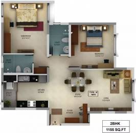 1155 sqft, 2 bhk Apartment in Mantri WebCity Kuvempu Layout on Hennur Main Road, Bangalore at Rs. 74.0000 Lacs