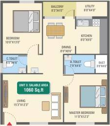 1060 sqft, 2 bhk Apartment in 5 Elements GR Gardenia Electronic City Phase 1, Bangalore at Rs. 37.5240 Lacs