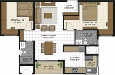 1277 sqft, 2 bhk Apartment in ETA Verde Porur, Chennai at Rs. 25000
