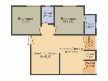 1080 sqft, 2 bhk Apartment in Ashirwad Avenue Nava Naroda, Ahmedabad at Rs. 26.0000 Lacs