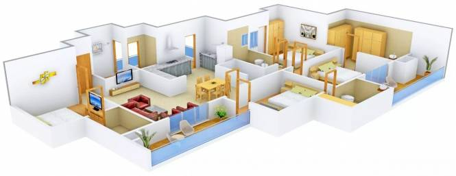 2448 sqft, 4 bhk Apartment in  Cleo County Sector 121, Noida at Rs. 2.0000 Cr