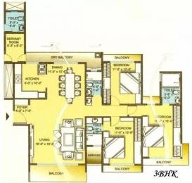 2133 sqft, 3 bhk Apartment in Sunteck Signia Oceans Airoli, Mumbai at Rs. 71000