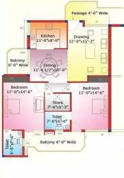 1150 sqft, 2 bhk Apartment in Sliver Silver City Heights Gazipur, Zirakpur at Rs. 12000