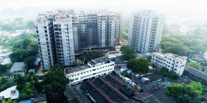 1056 sqft, 3 bhk Apartment in Merlin Waterfront Howrah, Kolkata at Rs. 62.7400 Lacs