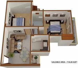 718 sqft, 2 bhk Apartment in Shree Sai Baba Sai Gaon Kaazi Sarai, Varanasi at Rs. 22.2667 Lacs