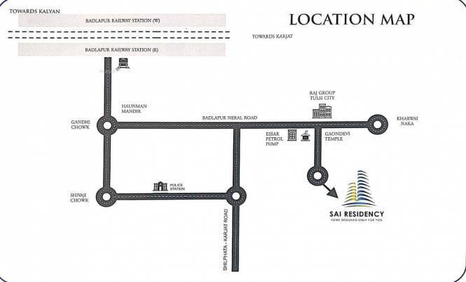 615 sqft, 1 bhk Apartment in Sai Residency Badlapur East, Mumbai at Rs. 20.8197 Lacs