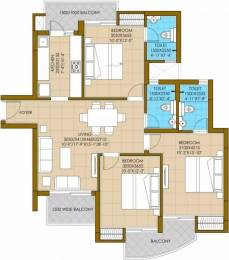 1400 sqft, 3 bhk Apartment in ATS Pious Hideaways Sector 150, Noida at Rs. 66.5000 Lacs