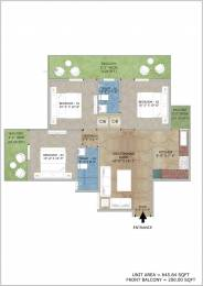 845 sqft, 3 bhk Apartment in Adore Happy Homes Exclusive Sector 86, Faridabad at Rs. 29.0000 Lacs