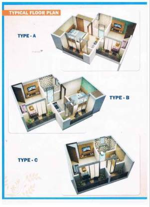 423 sqft, 1 bhk Apartment in Seven Eleven Apna Ghar Phase III Mira Road East, Mumbai at Rs. 26.4417 Lacs