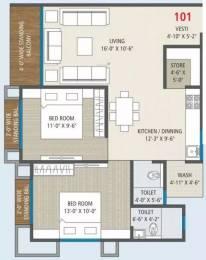903 sqft, 2 bhk Apartment in Anand Orchid Vivanta Jahangirpura, Surat at Rs. 33.0000 Lacs