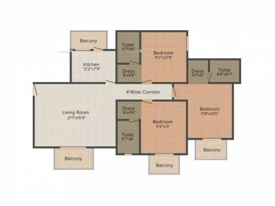 1750 sqft, 3 bhk Apartment in ATS Pristine Sector 150, Noida at Rs. 1.2200 Cr