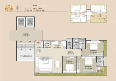 2034 sqft, 3 bhk Apartment in Builder shilalekh Pal, Surat at Rs. 98.6700 Lacs