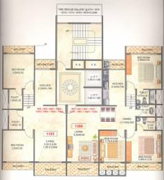 1585 sqft, 3 bhk Apartment in Konshila Enterprises Mahapragya Heights Sector 20 Kharghar, Mumbai at Rs. 30000