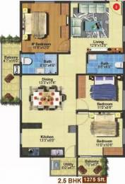 1375 sqft, 2 bhk Apartment in Myhna Myhna Maple Varthur, Bangalore at Rs. 85.0000 Lacs