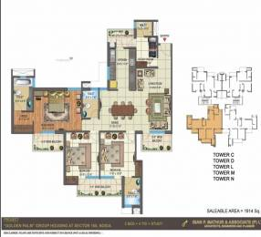 1914 sqft, 3 bhk Apartment in Builder The Golden Palms Greater Noida, Greater Noida at Rs. 93.7900 Lacs