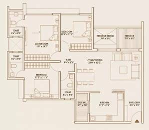 1424 sqft, 3 bhk Apartment in Pride World City Lohegaon, Pune at Rs. 22000