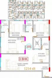 1214 sqft, 3 bhk Apartment in Damden Vivo Attibele, Bangalore at Rs. 40.0000 Lacs