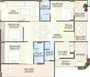 2453 sqft, 3 bhk Apartment in MS Ramayya Sri Yaduvamsi Anandadhamam Sujatha Nagar, Visakhapatnam at Rs. 1.2508 Cr