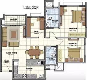 1355 sqft, 2 bhk Apartment in Prestige Birchwood at Sunrise Park Electronic City Phase 1, Bangalore at Rs. 26000