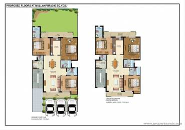 1725 sqft, 3 bhk Apartment in Builder omaxe cassia New Chandigarh Mullanpur, Chandigarh at Rs. 63.8800 Lacs