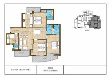 1675 sqft, 3 bhk Apartment in ATS Nobility Sector 4 Noida Extension, Greater Noida at Rs. 71.1800 Lacs