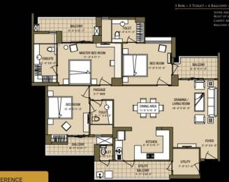 1338 sqft, 3 bhk Apartment in  Cleo County Sector 121, Noida at Rs. 89.1000 Lacs