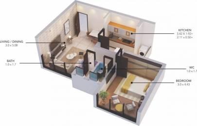 600 sqft, 1 bhk Apartment in Expat Vida Phase 2 Chimbel, Goa at Rs. 39.0000 Lacs