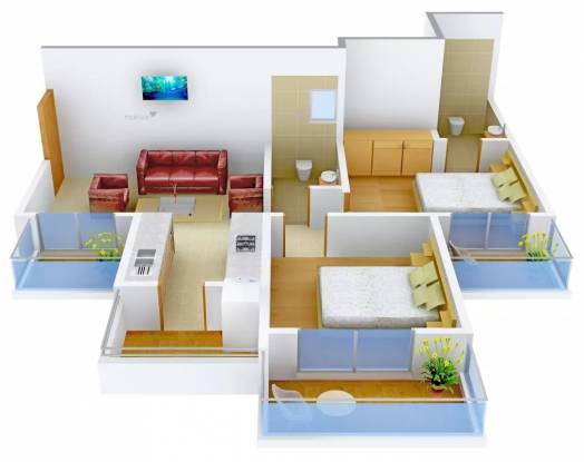 1020 sqft, 2 bhk Apartment in Gulshan Bellina Sector 16 Noida Extension, Greater Noida at Rs. 35.0000 Lacs