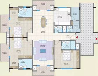 2750 sqft, 3 bhk Apartment in Legacy Dimora Jakkur, Bangalore at Rs. 1.2500 Lacs