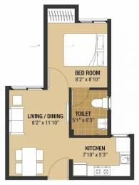 375 sqft, 1 bhk Apartment in Arun Compact Homes Vasanthaa Oragadam, Chennai at Rs. 15.0000 Lacs