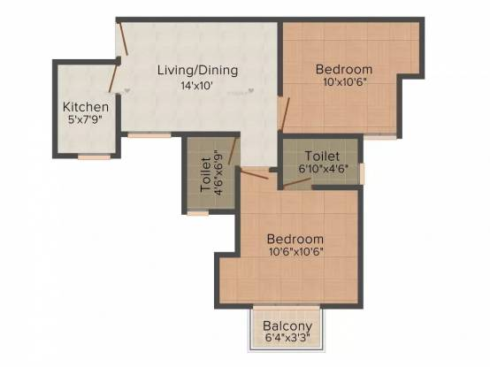 795 sqft, 2 bhk Apartment in Paras Seasons Sector 168, Noida at Rs. 41.0000 Lacs