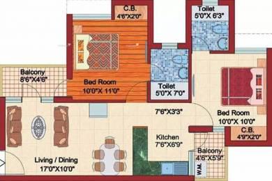 1100 sqft, 2 bhk Apartment in Shubhkamna Kartik Kunj Apartments Sector 44, Noida at Rs. 70.0000 Lacs