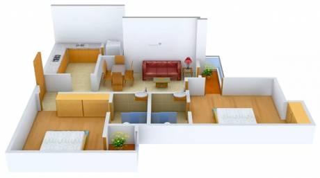 1050 sqft, 2 bhk Apartment in Logix Blossom Greens Sector 143, Noida at Rs. 11500