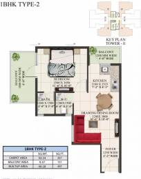 497 sqft, 1 bhk Apartment in Supertech The Valley Sector 78, Gurgaon at Rs. 17.7800 Lacs