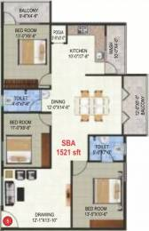 1521 sqft, 3 bhk Apartment in Garuda Garuda Blossom KR Puram, Bangalore at Rs. 20000