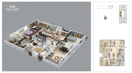 3127 sqft, 4 bhk Apartment in GEV Radha Madhav Benz Circle, Vijayawada at Rs. 2.0000 Cr