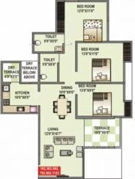 1360 sqft, 3 bhk Apartment in Shriram La Tierra Vishrantwadi, Pune at Rs. 88.0000 Lacs