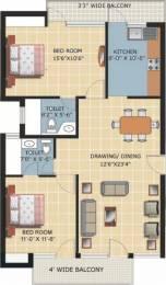 1100 sqft, 2 bhk Apartment in Omaxe Fullmoon Vrindavan, Mathura at Rs. 37.0000 Lacs