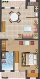 1010 sqft, 1 bhk Apartment in Omaxe Fullmoon Vrindavan, Mathura at Rs. 23.0000 Lacs
