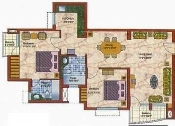 1250 sqft, 2 bhk Apartment in Samiah Vrinda City Phi, Greater Noida at Rs. 55.0000 Lacs