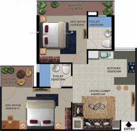 950 sqft, 2 bhk Apartment in Breez Global Heights Sector 33 Sohna, Gurgaon at Rs. 24.0000 Lacs