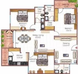 1569 sqft, 3 bhk Apartment in Fortune Signature Kolar Road, Bhopal at Rs. 18000