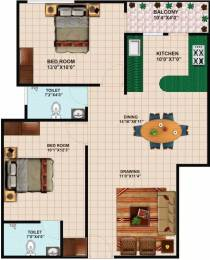 950 sqft, 2 bhk Apartment in Ms Agrawal Construction Co Sagar Abhinav Heights Bagmugalia, Bhopal at Rs. 7500