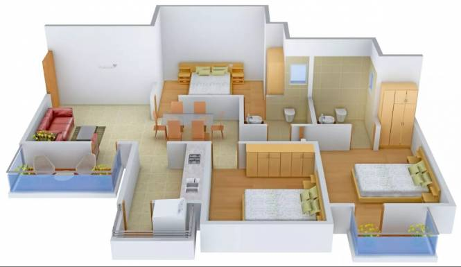 1326 sqft, 3 bhk Apartment in Tulip White Sector 69, Gurgaon at Rs. 76.0000 Lacs