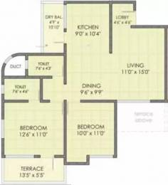 972 sqft, 2 bhk Apartment in Dreams Nandini Manjari, Pune at Rs. 55.0000 Lacs