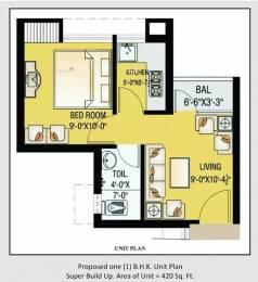 420 sqft, 1 bhk Apartment in Vibgyor Housing Indira Nagar, Lucknow at Rs. 12500