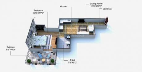 624 sqft, 1 bhk Apartment in Auric City Homes Sector 82, Faridabad at Rs. 13.0000 Lacs